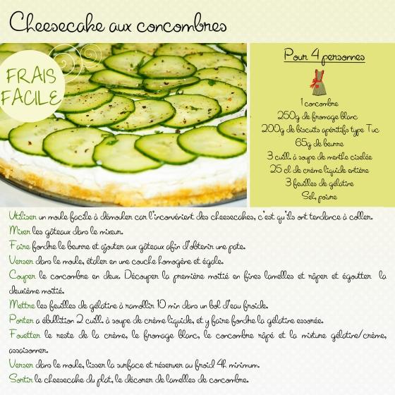 cheesecake cuncumber