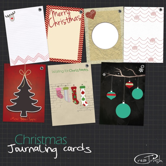 Christmas journaling cards noel